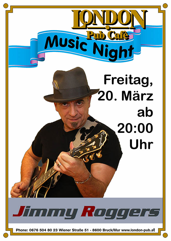 Music Night mit Jimmy Roggers Plakat